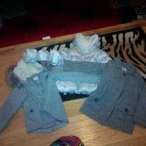Size 5 girls fall to winter jackets and snow pants