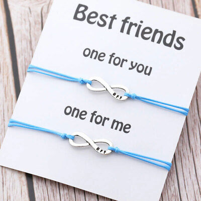 Best Friend Matching Bracelet Infinity Charm Bff Friendship Bracelets