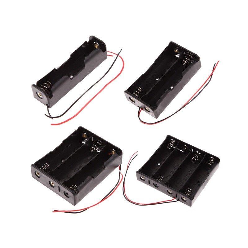 Batteriehalter für 1, 2, 3 oder 4 18650 Batterien mit Leitung Battery box case