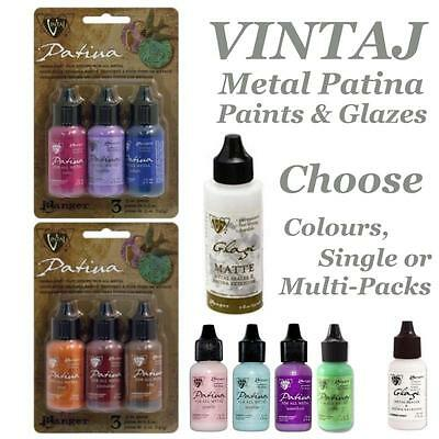 Vintaj Patina (Vintaj Patina Kits, Ranger Metal Paint, Glaze Sets Choose Singles or)