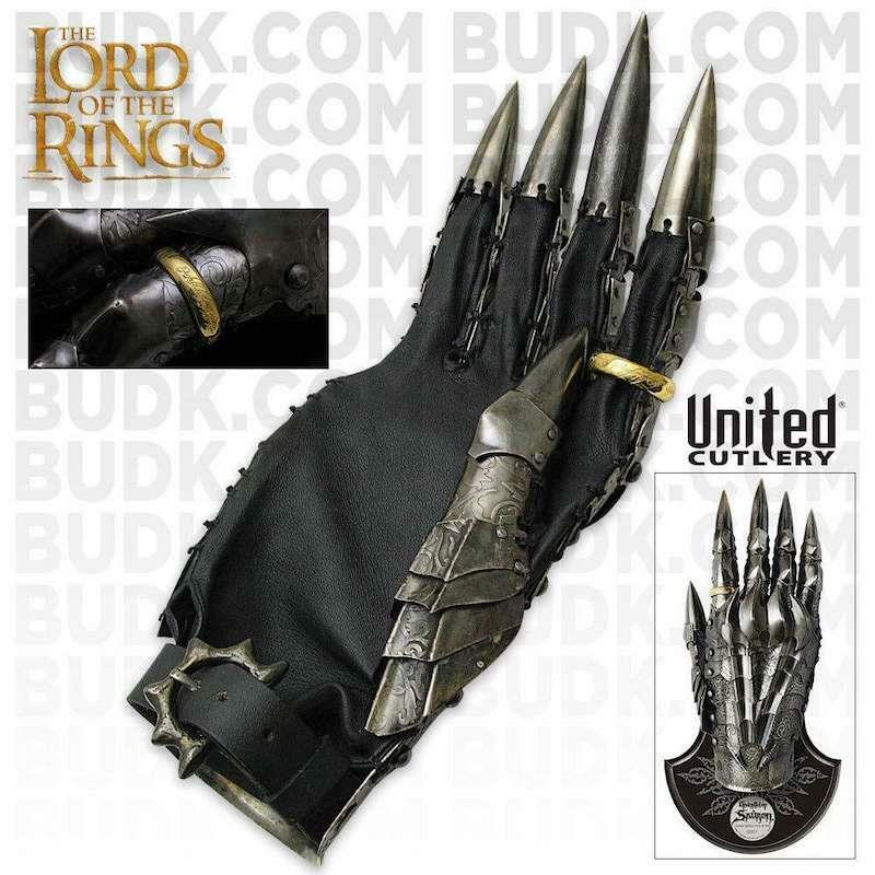 LOTR The Gauntlet of Sauron United Cutlery Limited Edition COA Collectible