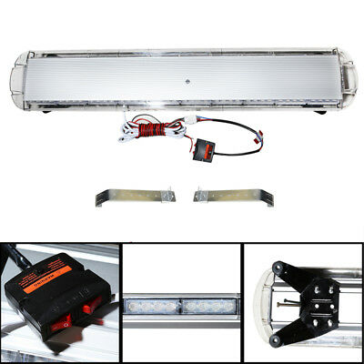 47  88 Leds Emergency Warning Roof Tow Flash Beacon Strobe Light Bar  Red White