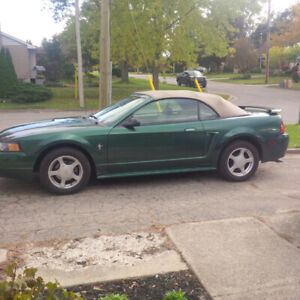 2002 MUSTANG CONVERTIBLE ONLY 83000 KMS