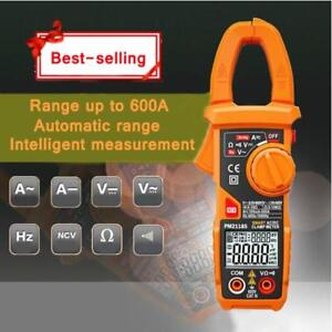 600A Intelligent Digital AC/DC Clamp Meter Automatic Adjustment Multimeter 028010