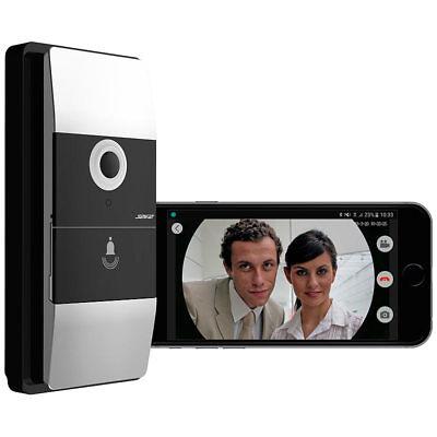 Klingel: WLAN-Video-Türklingel mit App, 180° Bildwinkel, 6 Monate Akku-Laufzeit