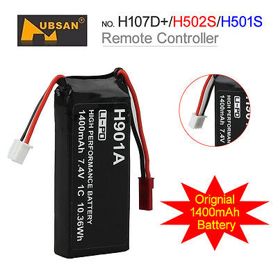 Lipo Battery 1400mAh 7.4V 1C For RC Drone Hubsan H107D+ H502S H501S FAST