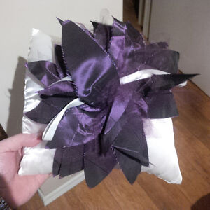 Custom made ring bearer pillow for wedding purple and silver Kitchener / Waterloo Kitchener Area image 2