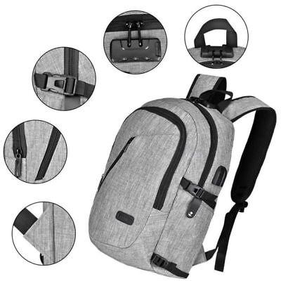 Laptop Schule Rucksack Reise mit USB-Ladeanschluss und Anti-Diebstahl