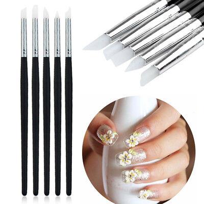 5pcs Dentalnail Silicone Brush Pen Adhesive Composite Resin Cement Porcelain