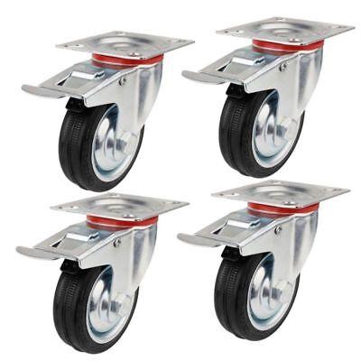 1//2//5//10X50mm Lenkrollen Möbelrollen mit Bremse Transportrollen Schwerlast 150KG