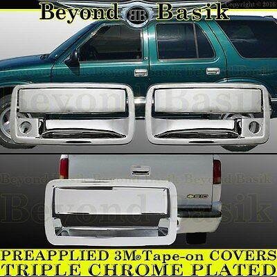 1994-2003 CHEVY S10 GMC Sonoma Hombre Chrome Door Handle 2 door+Tailgate COVERS (Chevy S10 2002)