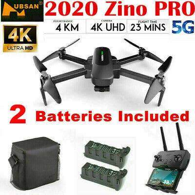 Hubsan Zino PRO APP FPV Quadcopter 5G 4K Drone ---12MP 3Axis Gimbal+2Battery+Bag