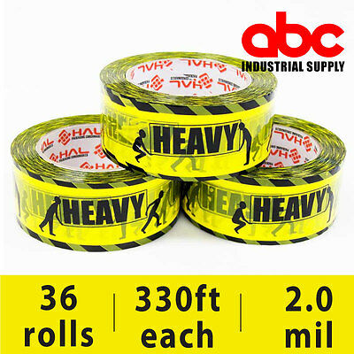 110 Yard Heavy Printed Tape Packaging Sealing Box Closing Packing Tape 36 Rolls