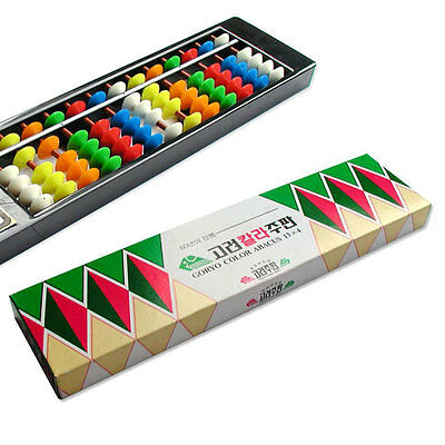 Korean Abacus 13 Digits Mathematic Calculator Color Children brain training
