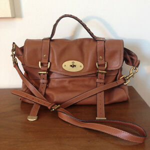 Beautiful Mulberry Style Camel Leather Bag Great Condition