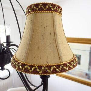 NEW Bell Candelabra Chandelier Shades Covers x 3 Gold Brown