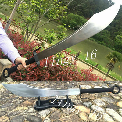 Chinese Kung Fu Broadsword Da Dao Sword 1090Carbon Steel Sharp WuShu Broad Knife