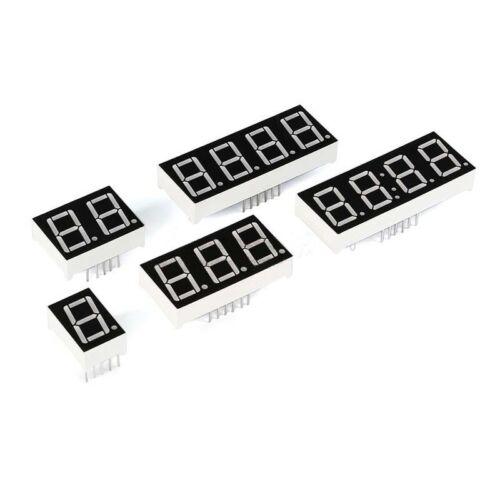 "5Pcs 0.56/"" Red LED Display Digital Tube Common Cathode 10 Pin 1 Bit 7 Segment LU"
