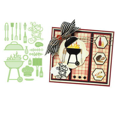 Cooking Tools Cutting dies Stencil Templates Scrapbooking Photo Album Handcrafts ()