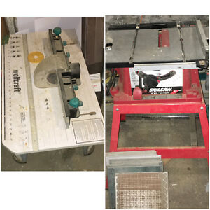 10inch portable table saw with stand. Router table