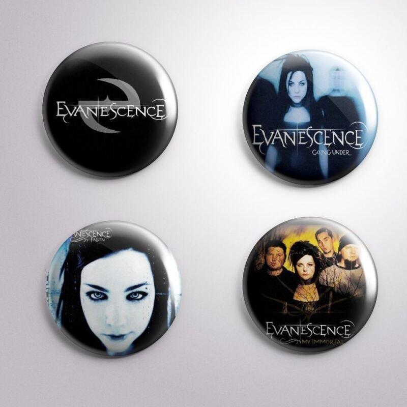 4 EVANESCENCE -  Pinbacks Badge Button 25mm 1