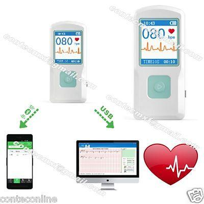 Usa Seller Pm10 Portable Ecg Ekg Machine Heart Beat Monitorusb Bluetoothlcd