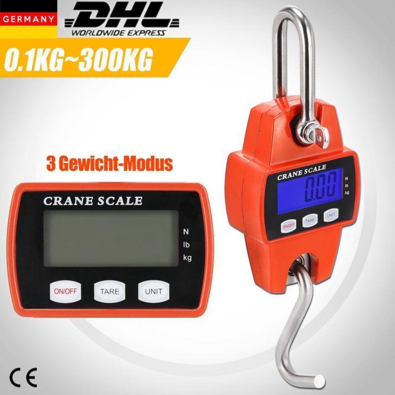 Kranwaage bis 300 kg LCD digital Hängewaage Zugwaage Wildwaage Industriewaage
