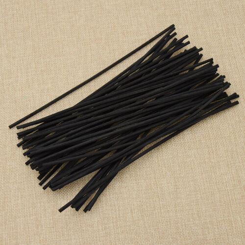 50pcs Premium Black Rattan Reed Fragrance Oil Diffuser Repla