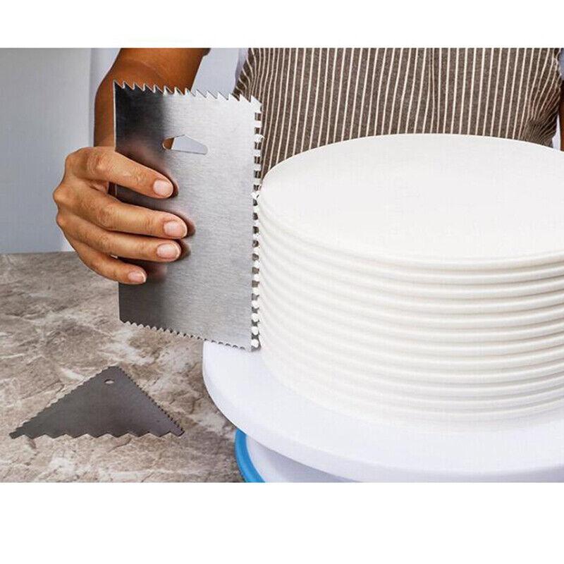 6Pcs/Set Cake Scraper Decorating Comb Icing Smoother Tool Ed