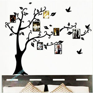 Moda-Photo-Arbol-Hogar-Arte-Decoracion-Pegatina-De-Pared-Vinilo-Decorativo