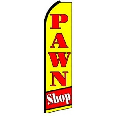 Pawn Shop Half Curve Premium Wide Swooper Flag