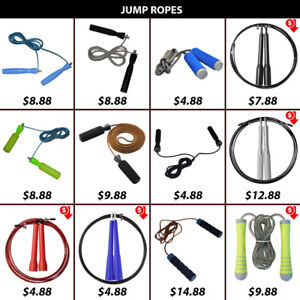 Jumping Rope Ropes Skipping Skip Leather Pvc Wire Weighted Jump