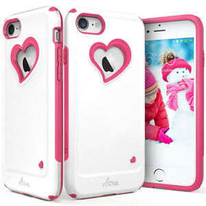 iPhone 7 Dual Layer Case with heart cutout (New)