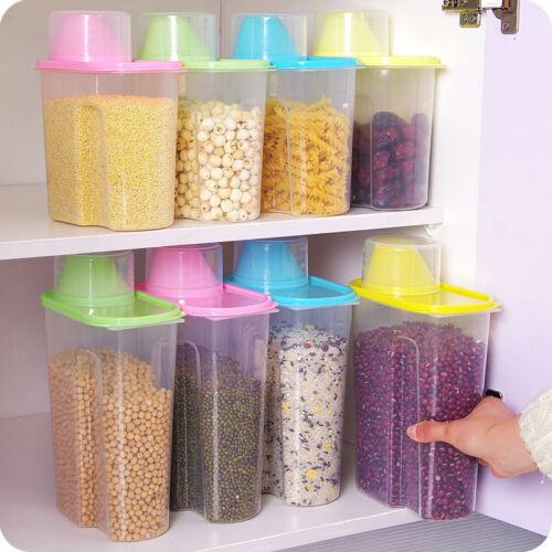 2.5L Plastic Kitchen Food Cereal Grain Bean Rice Storage Box