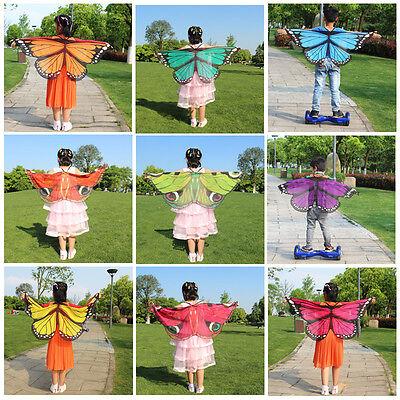 Heißer Verkauf Kinder Weichen Stoff Schmetterlingsflügel Kostüm Armbänder Umhang