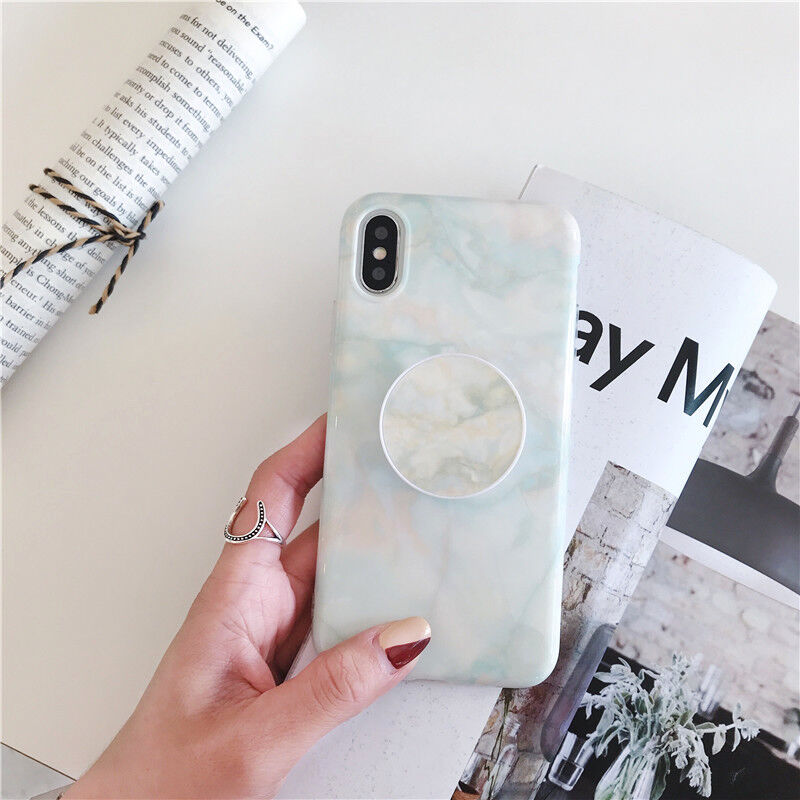 Marble Put Up Air Holder Stand Case For iPhone X XS Max XR 6 6s 7 8 Plus XSMax