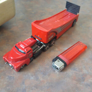 Red hot wheels hw transport truck and trailer