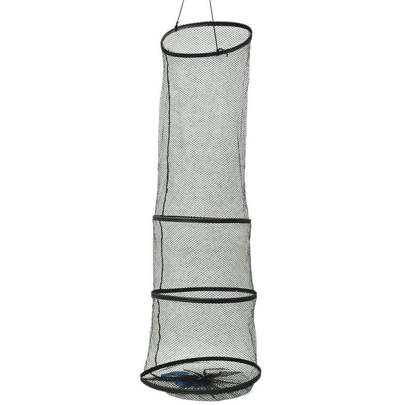 4Layers Collapsible Fishing Basket Dip Net Fishing Cage Fishing Accessor Tool FB - 3