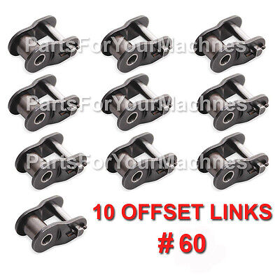 Lot 10 60 Offset Connection Links For Roller Chain 60go Karts Farm Machines