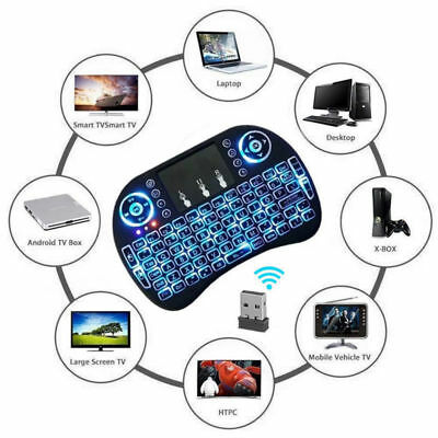 Wireless mini 2.4Ghz Keyboard Touchpad Smart TV Android Box PC HTPC Rechargable (Tv Keyboard)