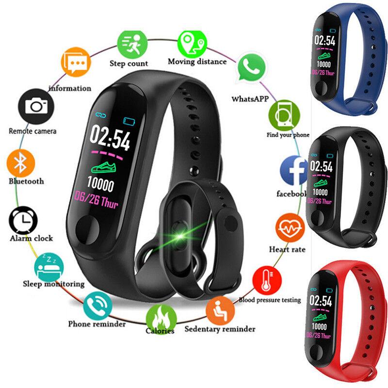Smart Band Watch Bracelet Wristband Fitness Tracker Blood Pressure HeartRate M3`