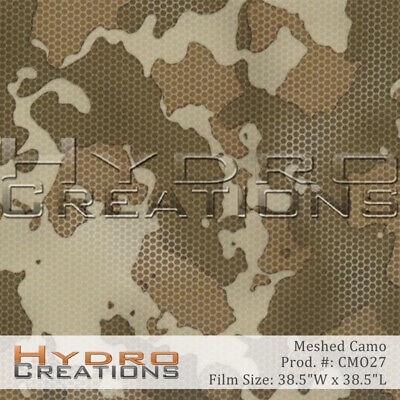 Hydrographic Film Hydro Dipping Water Transfer Film Meshed Camo 38.5 X 38.5