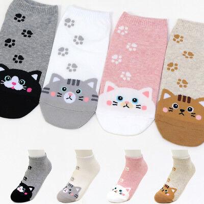 4 Pairs Cats Character Socks Women Girls Big Kids Casual Socks MADE IN KOREA