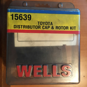 WELLS 15639 TOYOTA DISTRIBUTOR CAP & ROTOR KIT