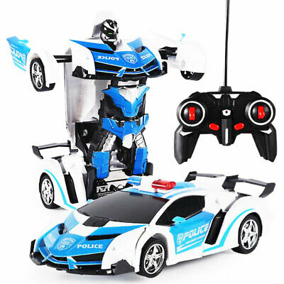 Kids Toy Transformer RC Robot Sports Car Remote Control Car Best Boys Xmas