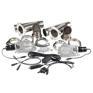 Exaust bypass system Ruien 2.5 Inch/63mm 2x  Electric Exhaust