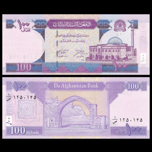 Afghanistan 100 Afghanis, 2002, P-70a, Banknote, UNC