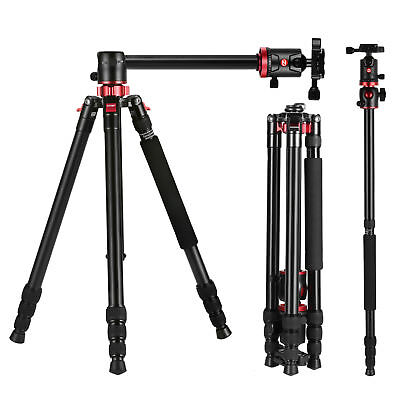 "ZOMEI  75"" Pro M8 Tripod Monopod Transverse Center Column Ball Head For Camera segunda mano  Embacar hacia Argentina"