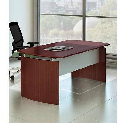 Office Furniture Mayline Medina Laminate Executive Desk 72 Mahogany Finish