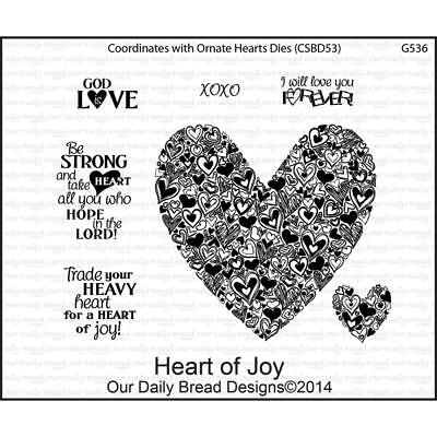(Heart of Joy Cling Stamp Collection Our Daily Bread NEW love doodle sketch art)